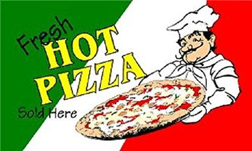 Italian Flag Sign - Fresh Hot Pizza Flag Pizzeria Italian Restaurant Advertising Banner Sign New 3x5