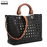 MMK Collection Fashion Classic Packlock Handbag for Lady(6892/6487) Signature fashion Designer Purse Handbag with spring colors~Perfect Women Satchel Purse~Beautiful Designer (MA-XL-09-7379-BK)
