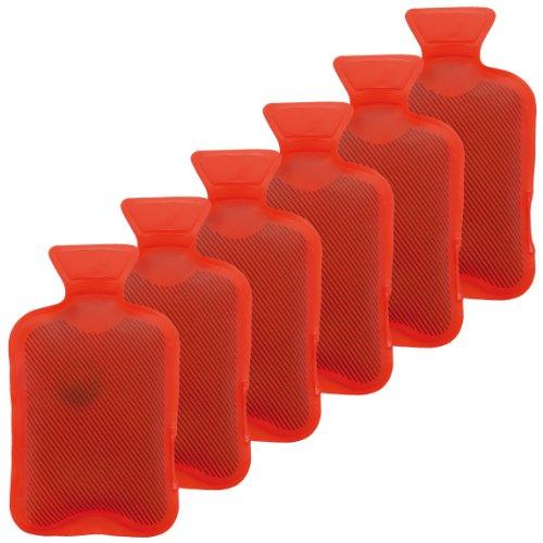 Taschenwärmer 6er Set Handwärmer Heizpad Firebag - Wärmflaschen in rot