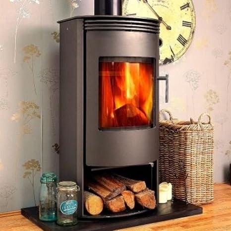 Chimenea moderna de alta eficiencia Log quemador estufa para madera, 7 kW giratorio Base: Amazon.es: Bricolaje y herramientas