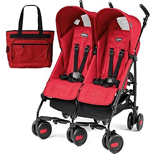 Peg Perego - Stroller Pliko Mini Stroller Twin Mod Red With