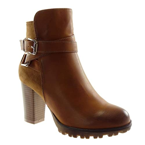 31e3d356a06bcf Angkorly - Women s Fashion Shoes Ankle Boots - Booty - Cavalier - Biker -  Rock -