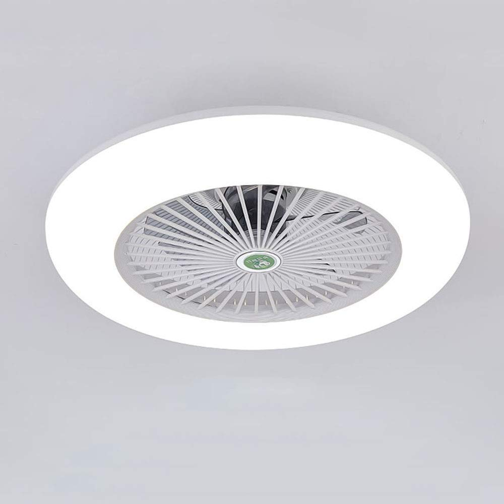 Deckenventilator Mit Beleuchtung Und Fernbedienung Leise Schlafzimmer-Lampe LED Deckenleuchte 3-Farbtemperatur Dimmbar Deckenlampe Wei/ß Rund Wohnzimmer Esszimmer Dekor Fanlampe