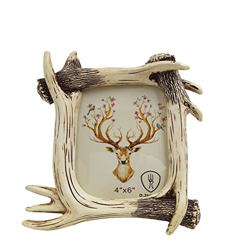 D.Jacware Decorative Resin Deer Antler Picture Frame, Made to Display 4