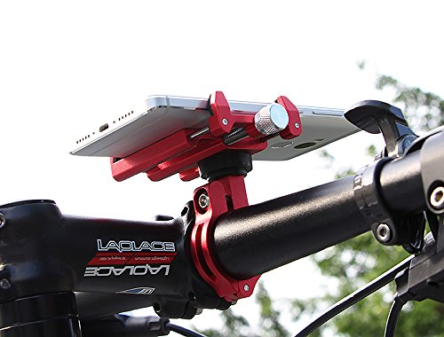 MaxMiles Motorcycle and Bicycle Cell Phone Holder Aluminum Universal Adjustable Phone Mount Smartphone Holder Bike Handlebar Phone Holder for iPhone X 5 6 7 8 Plus Samsung LG (Rotation Red) by MaxMiles (Image #7)