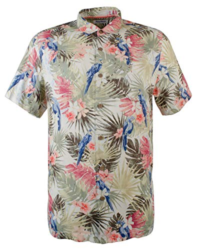 Bahama Cream Tommy - Tommy Bahama Marino Paradise Silk Camp Shirt (Color: Coconut Cream, Size XL)