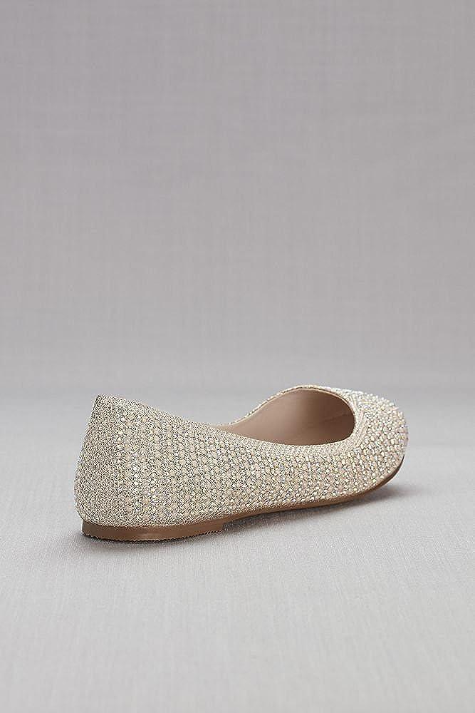 Davids Bridal Crystal and Pearl Ballet Flats Style BBABA14