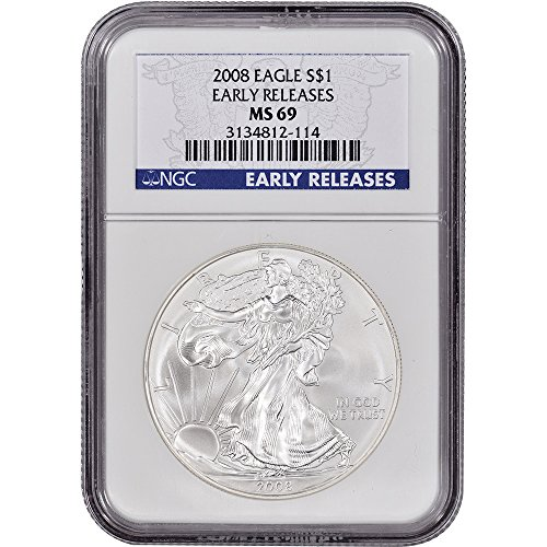 2008 American Silver Eagle $1 MS69 - Early Releases NGC
