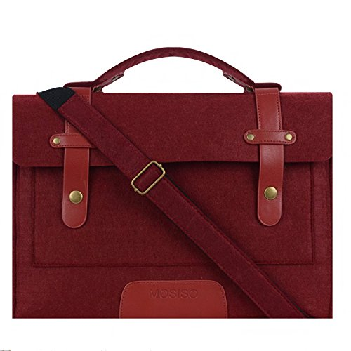 Price comparison product image Mosiso Felt Laptop Shoulder Bag for 13-13.3 inch MacBook Pro,  MacBook Air,  Notebook Computer,  Wine Red