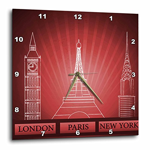 London, Paris and New York Historical Structures in Deep Red-