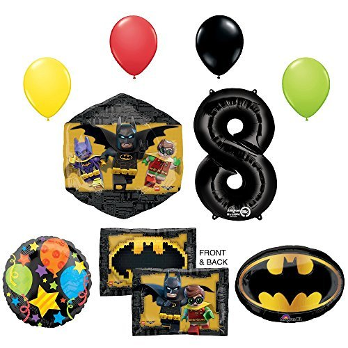 LEGO The Batman Movie 8th Birthday Party Supplies and Balloon Decorations]()
