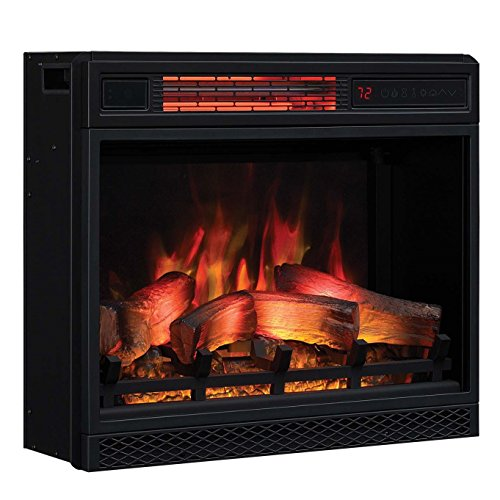 Classic Flame 23II042FGL 23 3D Infrared Quartz Electric Fireplace Insert with Safer Plug and Sensor, 1500 W, 23 inches,