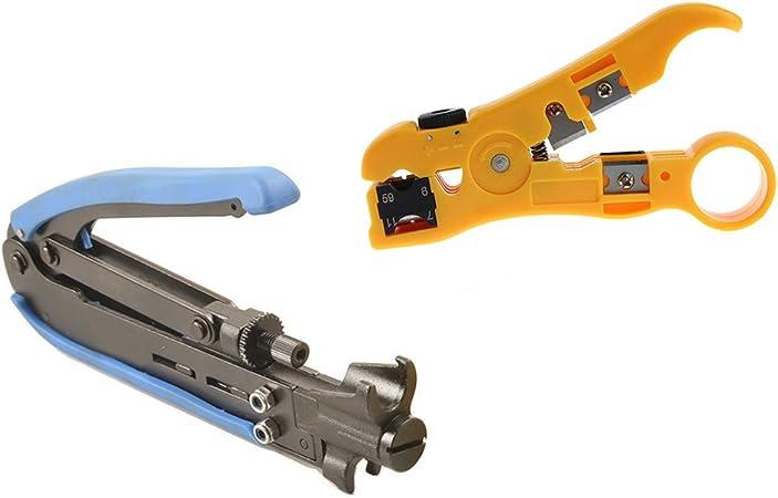 NEW Coax Compression Crimping Tool F-Type Crimper Cable Tech RG6 RG59 RG11 H548A