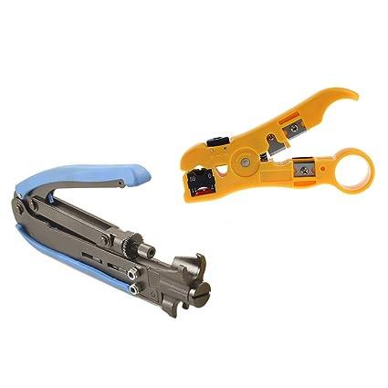 wovier – Crimpadora de compresión coaxial tipo F Crimpadora Cable Tech RG6 RG59 RG11 H548 A