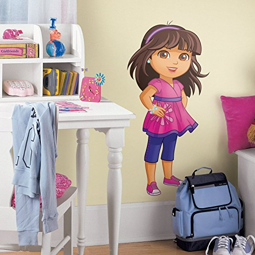 RoomMates Dora and Friends Peel and Stick Giant Wall Decals, ,