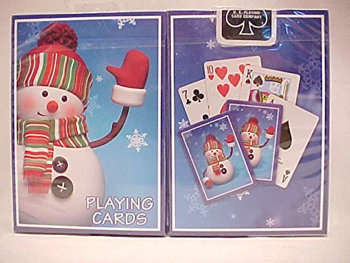 - 1 Deck Bicycle Snowman Holiday Standard Poker Playing Cards New In Box