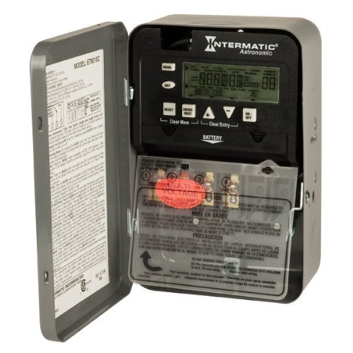 Intermatic ET8015C- 7-Day Electronic Astronomic Time Switch - NEMA 1 Indoor Steel Case - 1 Circuit - SPST - 30 Amps - 120/208/240/277 (Intermatic Steel Indoor Switch)