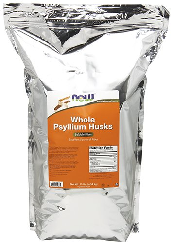 NOW Supplements, Whole Psyllium Husks, 10-Pound by NOW Foods