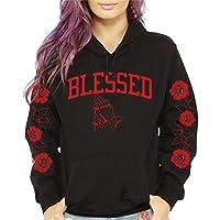 CaliDesign Women's Blessed Roses Pullover Sweatshirt Hoodie