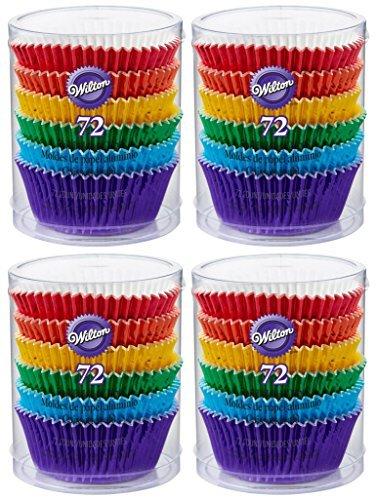 4-Pack - Wilton 415-5172 - 72 ct/pack - Rainbow Cupcake Liners by Wilton Enterprises