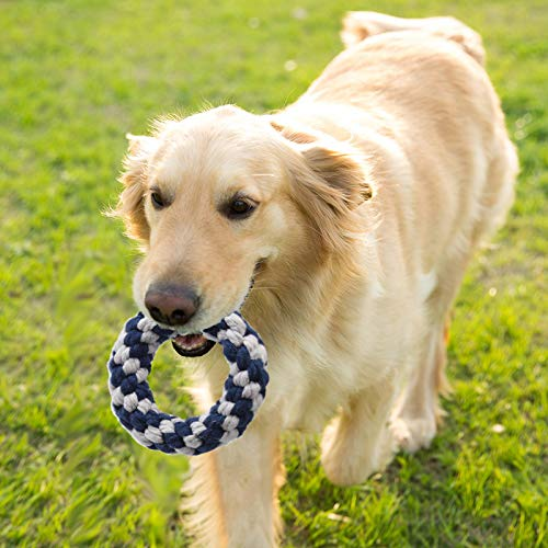 Jaolex Dog Rope Chew Toy Pack Throw Toy for Dogs Lofted Toy for Puppies Pull Knotted Ball Doggy Tug