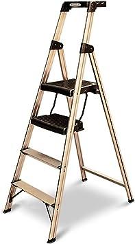 KJZ Escalera telescópica, escalera decorativa Escalera de ático Escalera de metal Escalera de metal Escalera plegable de cuatro pasos 58 * 9 * 163 CM (Tamaño : 58 * 9 * 163CM): Amazon.es: Bricolaje y herramientas