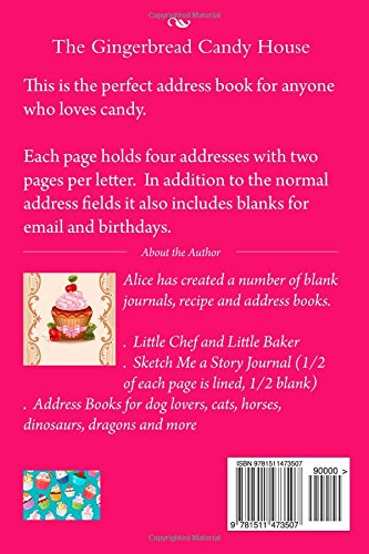 amazon the gingerbread candy house blank address book mrs alice