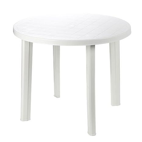 Tavolo In Plastica Giardino.Fun Star 506010 Tavolo In Plastica 90 Cm Colore Bianco Amazon It