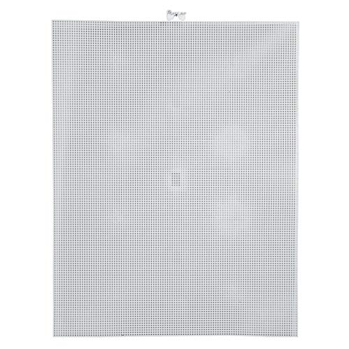 Bulk Buy: Darice DIY Crafts #10 Mesh Plastic Canvas White Rectangle 10-1/2 x 13-1/2 (12-Pack) 33030-2