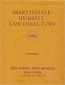 Martindale Hubbell Law Directory - Volume 11 (Martindale