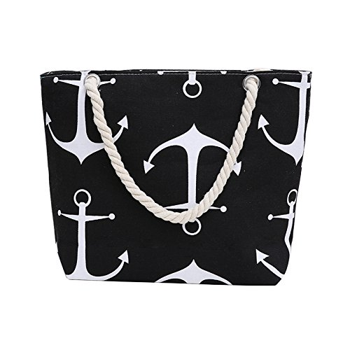 Samanthajane ClothingTM - Bolso de playa para mujer Anchor Black