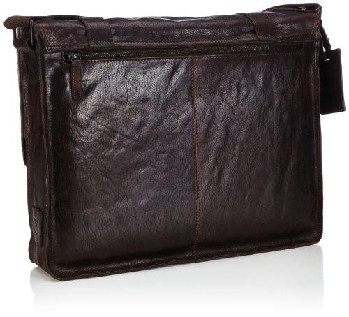 Bodenschatz Matera - Bolso de mensajero de cuero hombre marrón - Braun (espresso)