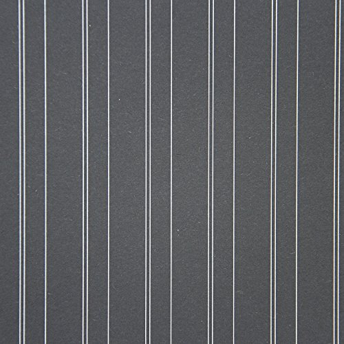 American Crafts DCWV 12'' x 12'' Loose Printed Paper - Silver Pinstripe Design - 25 Sheets by American Crafts