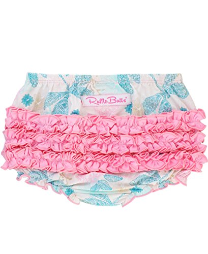 RuffleButts Infant/Toddler Girls Knit Ruffled Bloomer - Dancing Dragonflies - - 3 Dragon Designer