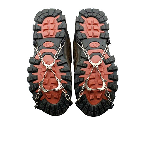 Calunce Ice Snow Anti Slip Spikes Grippers Shoes Covertraction Cleats for Snow and Ice Ice and Snow Traction Aid