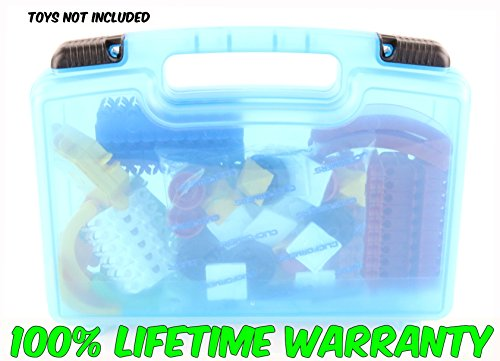 Life Made Better Toy Storage Organizer - Compatible With Clickformers TM Multicolor Basic Set (90 Piece)- Durable Carrying Case- Blue
