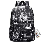 Global I Mall Backpack Bags, GIM Fashion Galaxy Sky Printing Schoolbags College Shoulder Back Pack/School Book Backpack Fits Boys and Girls Teen. (Black)