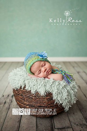 Hush Little Baby Green Faux Fake FUR Newborn Photo Props, Photography Props, Blanket, Basket Stuffer, Fabric - Super SoFT, Baby Props, Boy