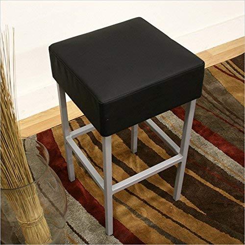 Baxton Studio Andante Black Faux Leather Counter Stool