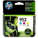HP 952 Cyan, Magenta & Yellow Ink Cartridges, 3 Cartridges (L0S49AN, L0S52AN, L0S55AN)
