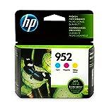 HP 952 Ink Cartridges | 3 Color Cartridges | Plus $5 Instant Ink Prepaid Code 4