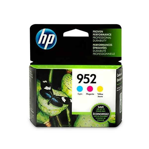 HP 952 Ink Cartridges | 3 Color Cartridges | Plus $5 Instant Ink Prepaid Code 1