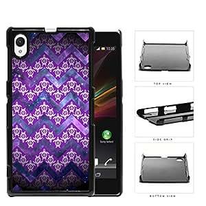 Mini Turtles In Chevron Pattern Purple Hard Plastic Snap On Cell Phone Case Sony Xperia Z1 wangjiang maoyi