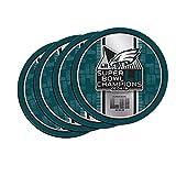 Philadelphia Eagles Super Bowl LII 52 Champions Neoprene 4-Pack Coaster Set - Round