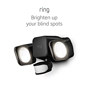 Ring Smart Lighting – Floodlight, Battery-Powered, Outdoor Motion-Sensor Security Light, Black (Ring Bridge required)