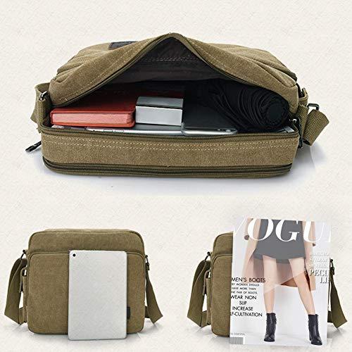 Simple Sac Toile Marron En Multiple Style Pocket De Bandoulière À Pour Sacs Vintage Multifonctionnel Casual Homme EnqwTqSrA