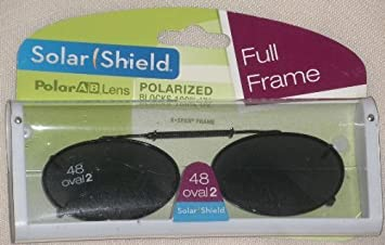 c6da609fb8f Amazon.com  Solar Shield 48 Oval 2 Polarized Clip On Sunglasses by Solar  Shield  Beauty