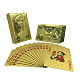UPoker 24K Gold-Foil Plated Playing Cards Poker Table Games (Serbian-Dinar)