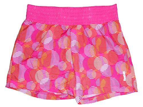 Reebok Big Girls' Running Shorts (Large) Pink/Orange