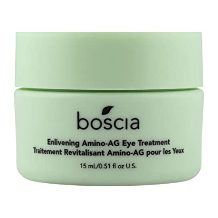 Amazon Com Boscia Enlivening Amino Ag Eye Treatment Vegan Cruelty Free Natural And Clean Skincare Under Eye Cream For Dark Circles Puffiness And Minimizing Wrinkles 0 5 Fl Oz Premium Beauty